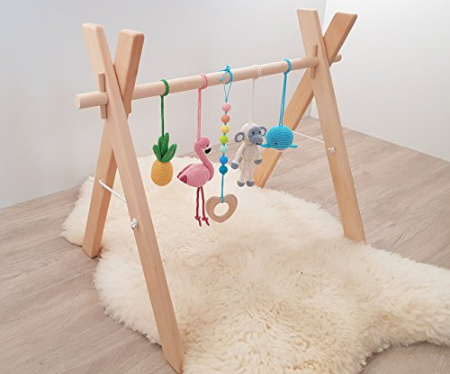 Tropical baby play gym. Flamingo, Pineapple, Monkey, Whale, Tropical ...