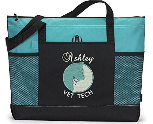 Veterinarian-Vet-Tech-Personalized-Embroidered-Tote-Bag-0
