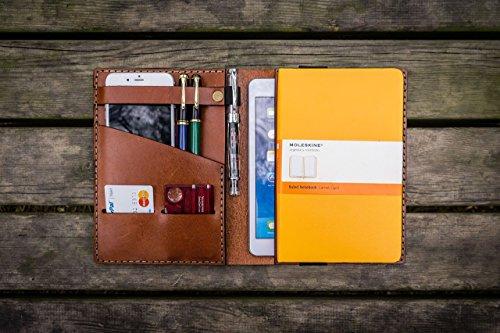 iPad-Mini-Large-Moleskine-Cover-Brown-Leather-Travel-journal-0