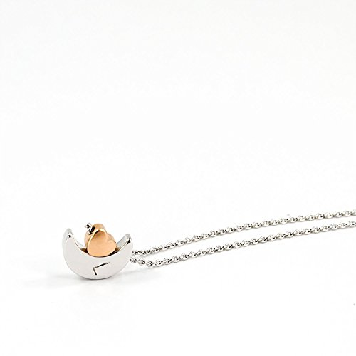 Wedding Gifts Next Day Delivery: To The MOON And Back Heart Lunar Necklace With Cute Matt